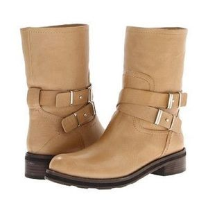 Costume National Cream Sabbia Leather Boots